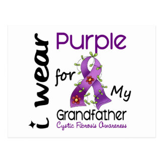 Cystic Fibrosis I Wear Purple For My Grandfather 4 Postcard