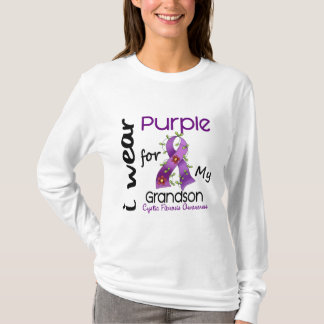 Cystic Fibrosis I Wear Purple For My Grandson 43 T-Shirt