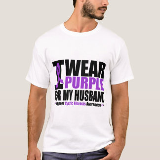 Cystic Fibrosis I Wear Purple For My Husband T-Shirt