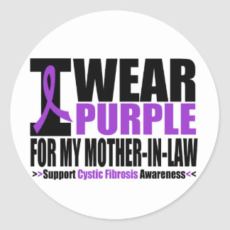 Cystic Fibrosis I Wear Purple For My Mother in Law Stickers