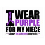 Cystic Fibrosis I Wear Purple For My Niece Postcard