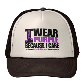 Cystic Fibrosis I Wear Purple Ribbon Because I Car Hat