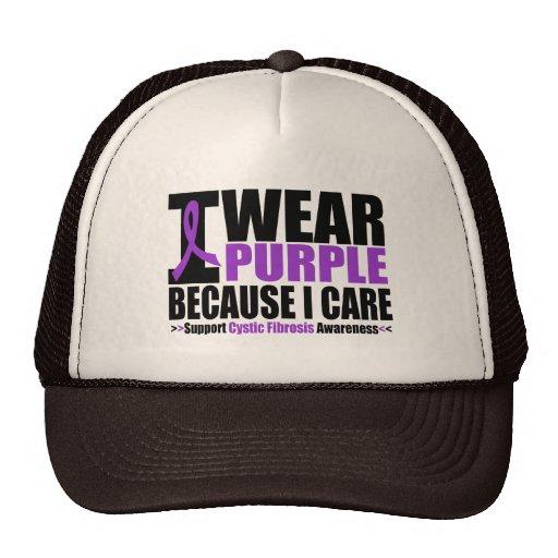 Cystic Fibrosis I Wear Purple Ribbon Because I Car Hat