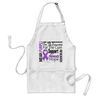 Cystic Fibrosis I Wear Purple Ribbon Standard Apron