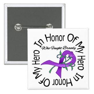 Cystic Fibrosis In Honor Of My Hero 15 Cm Square Badge