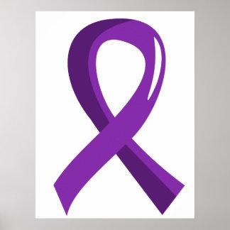 Cystic Fibrosis Purple Ribbon 3 Poster