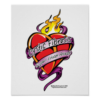 Cystic Fibrosis Tattoo Heart Poster