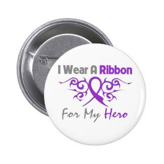 Cystic Fibrosis Tribal Deco Ribbon Hero Pinback Buttons