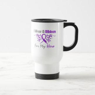 Cystic Fibrosis Tribal Deco Ribbon Hero Mugs