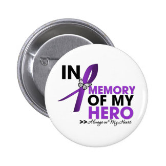 Cystic Fibrosis Tribute In Memory of My Hero 6 Cm Round Badge