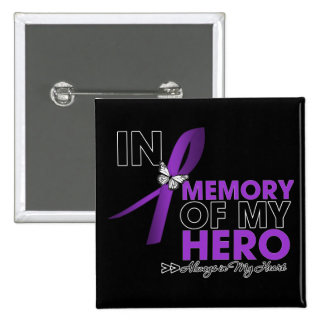 Cystic Fibrosis Tribute In Memory of My Hero Pinback Buttons