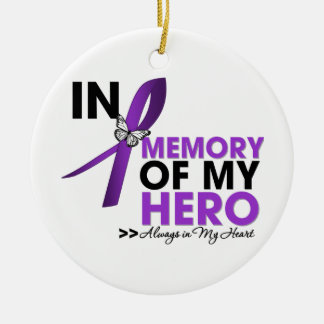 Cystic Fibrosis Tribute In Memory of My Hero Round Ceramic Decoration