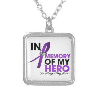 Cystic Fibrosis Tribute In Memory of My Hero Silver Plated Necklace