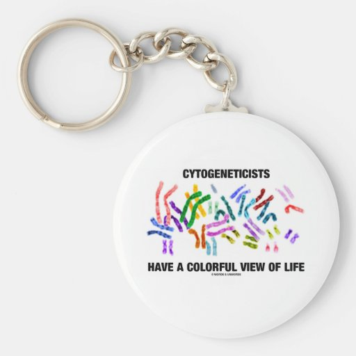 Cytogeneticists Have A Colorful View Of Life Key Chain