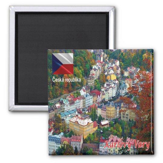 CZ - Czech Republic - Karlovy Vary Square Magnet