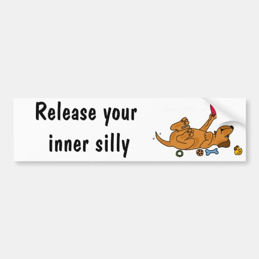 CZ- Release your Inner Silly - Puppy Bumper Stickers