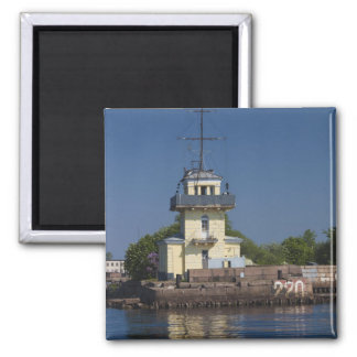 Czar Peter the Greats Naval fortress town Square Magnet