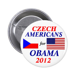 Czech americans for Obama 6 Cm Round Badge