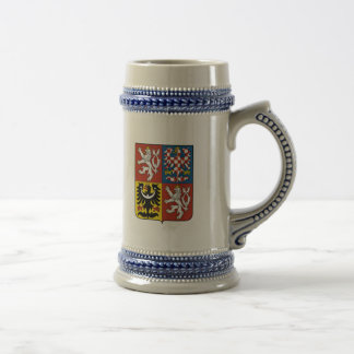 Czech Coat of Arms Beer Stein