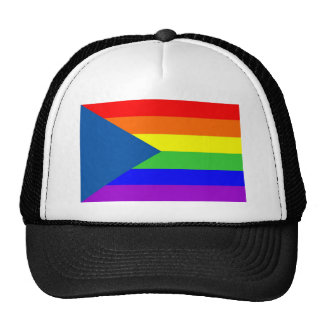 czech country gay proud rainbow flag homosexual cap
