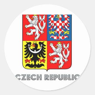 Czech Emblem Classic Round Sticker