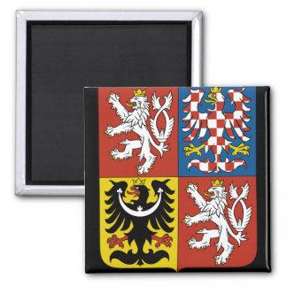 czech emblem square magnet
