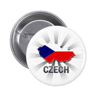 Czech Flag Map 2.0 6 Cm Round Badge