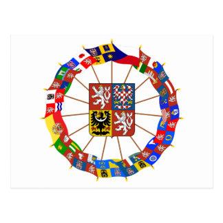 Czech Flags Pinwheel Post Card
