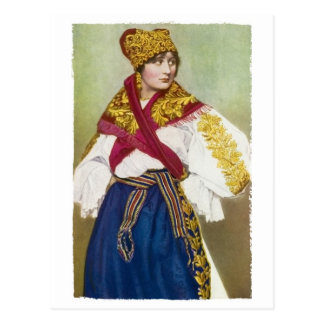 Czech Girl Postcard