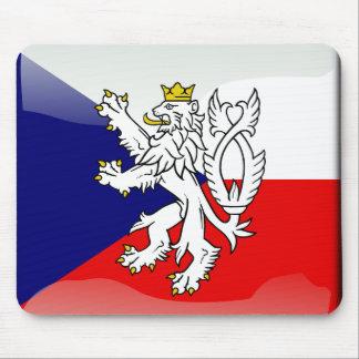 Czech glossy flag mouse mat