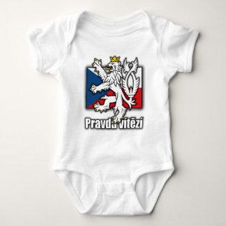 Czech Lion Coat of Arms Flag Baby Bodysuit