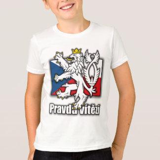 Czech Lion Coat of Arms Flag T-Shirt