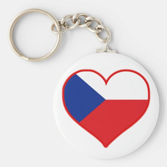 Czech Love Basic Round Button Key Ring