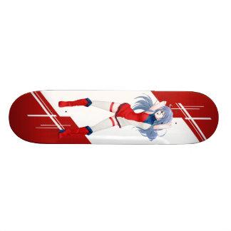 Czech Manga girl dressed in Flag - Skateboard Deck