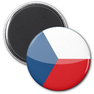 czech republic 6 cm round magnet