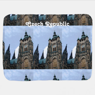 Czech Republic Architecture Receiving Blanket