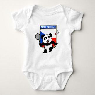 Czech Republic Badminton Panda Baby Bodysuit