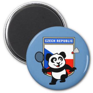 Czech Republic Badminton Panda Magnet