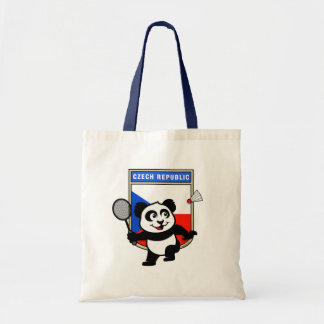 Czech Republic Badminton Panda Tote Bags