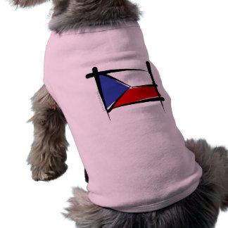 Czech Republic Brush Flag Shirt