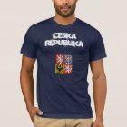 Czech Republic Ceska Republika with coat of arms T-Shirt