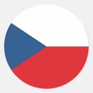 Czech Republic Classic Round Sticker