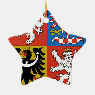 Czech Republic Coat of Arms Christmas Ornament