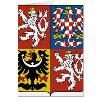 Czech Republic Coat of arms CZ Card