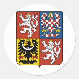 Czech Republic Coat of arms CZ Classic Round Sticker