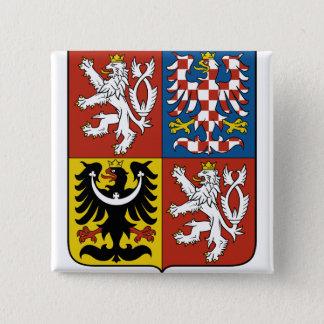 Czech Republic Coat of Arms detail 15 Cm Square Badge