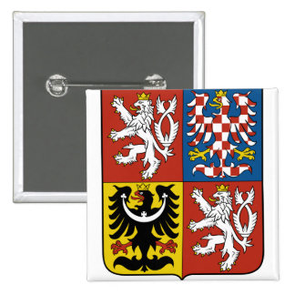 Czech Republic Coat of Arms detail 15 Cm Square Badge