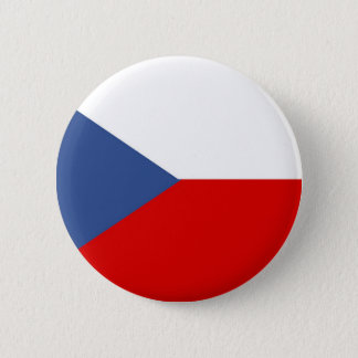 czech republic country long flag nation symbol 6 cm round badge