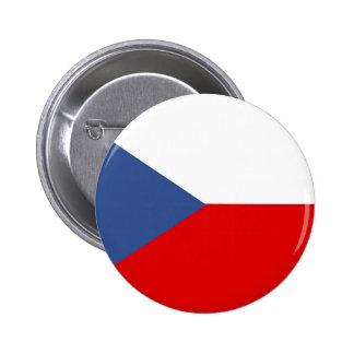 czech republic country long flag nation symbol 6 cm round badge