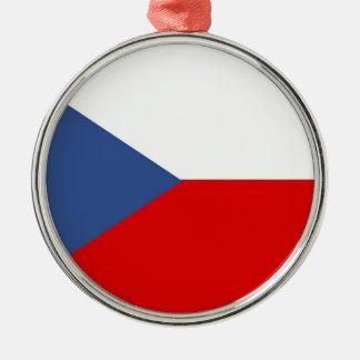 czech republic country long flag nation symbol christmas ornament